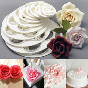 Beautiful Rose Flower Mold Decoration Fondant Cutter Tools - The Baking Buddies