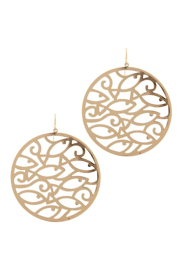 Cut out circle drop earring