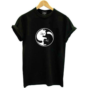 Yin Yang Cat Shirt For Women