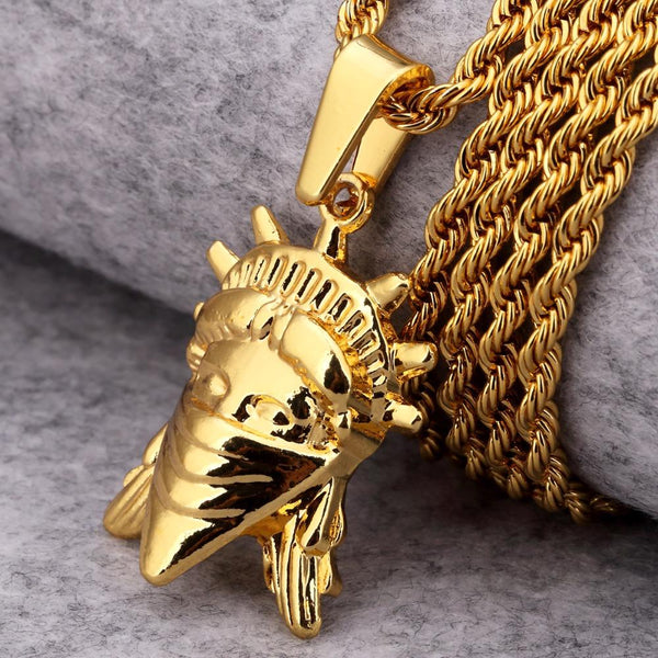 LIMITED EDITION: Statue Of Liberty - REBEL 18K Gold Plated Necklace