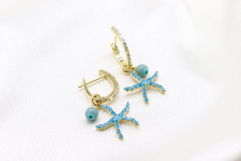Cz Starfish Earrings