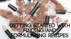 Getting Started with Finding and Formulating Recipes