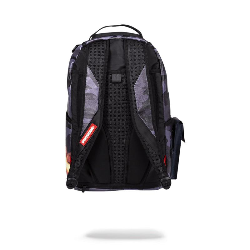 Sprayground Naruto Split Shark Backpack Black Back
