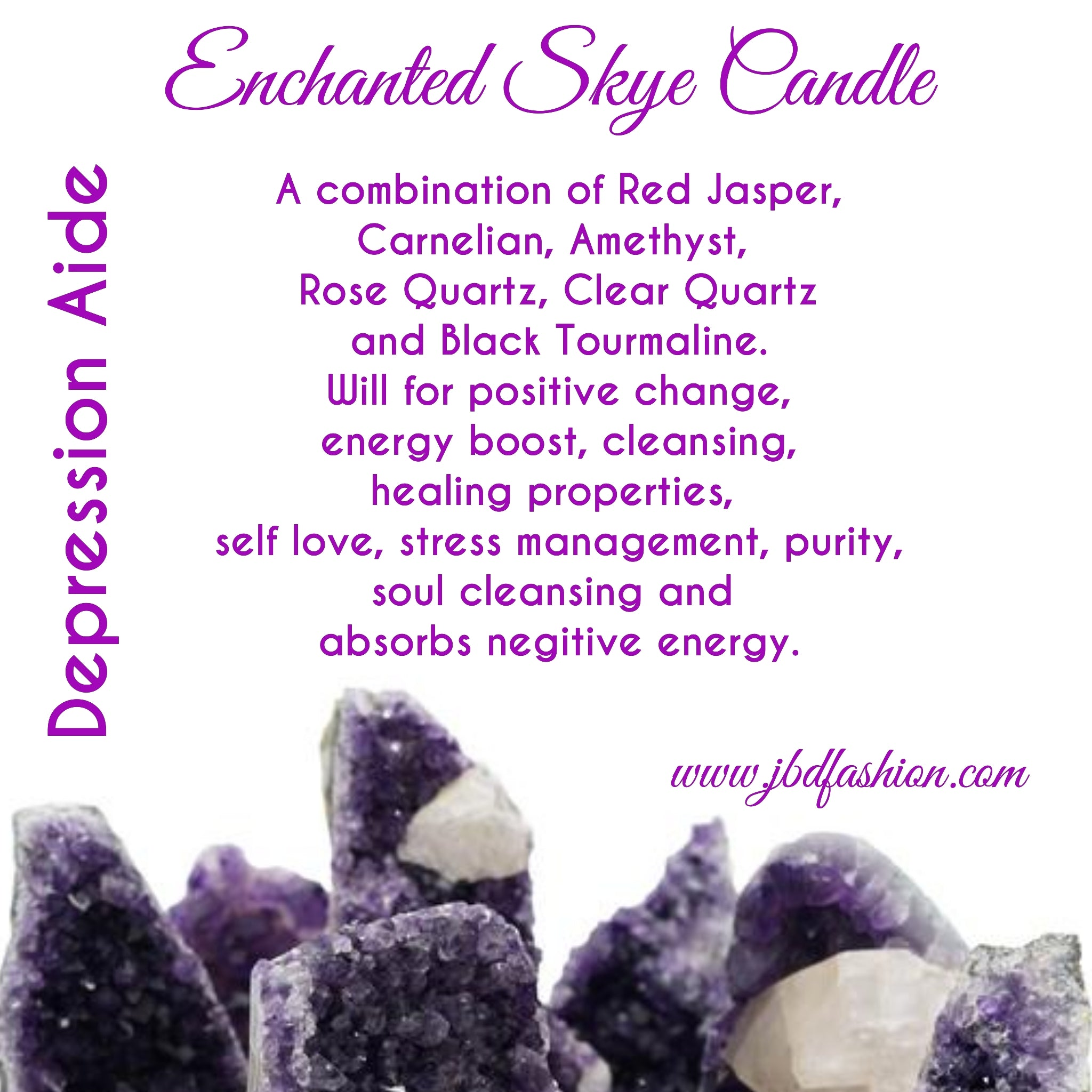 Enchanted Skye Candle - Depression Aide - JBD