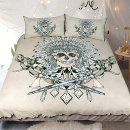 Indian Master Skull Duvet Cover