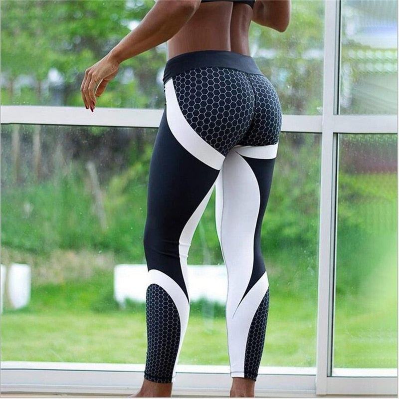 Mesh Pattern Print Leggings