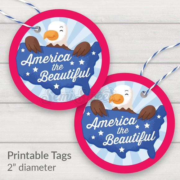 America the Beautiful - Instant Download Printable 2