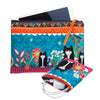 Garden Cats on blue- Velvet Tablet Case & Pouch