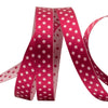 Wine/white Reversible Dots - 3/8""