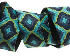 "Turquoise and Green Lantern Ribbon by Tula Pink - 7/8"" -by the yard"