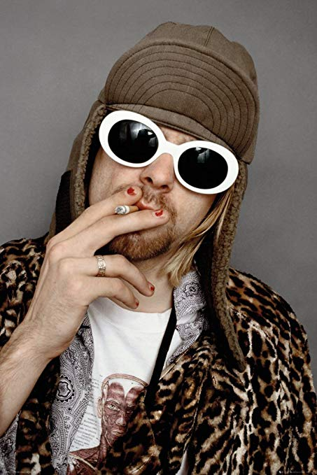 Nirvana  - Kurt Cobain Smoking Portrait - Poster - egoamo.co.za