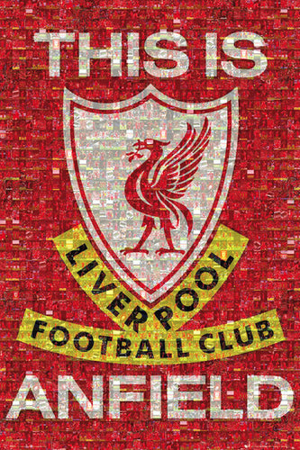 Liverpool - This is Anfield Mosaic - Poster - egoamo.co.za