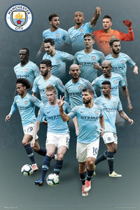Manchester City Players 18/19 Poster - egoamo.co.za
