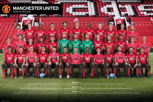 Manchester United - Players 18/19 - Poster - egoamo.co.za