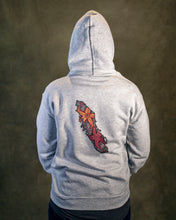 Rhodos Light Grey Hooded Sweatshirt