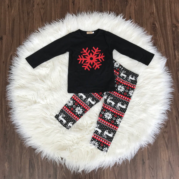 Red Snowflake Winter Outfit