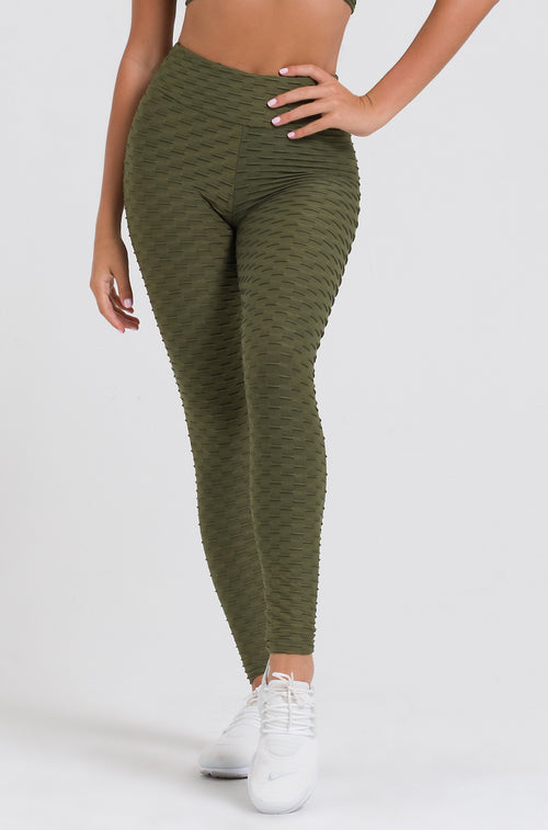Olive Textured Legging