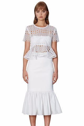 Paloma Off the Shoulder Mini Dress - White