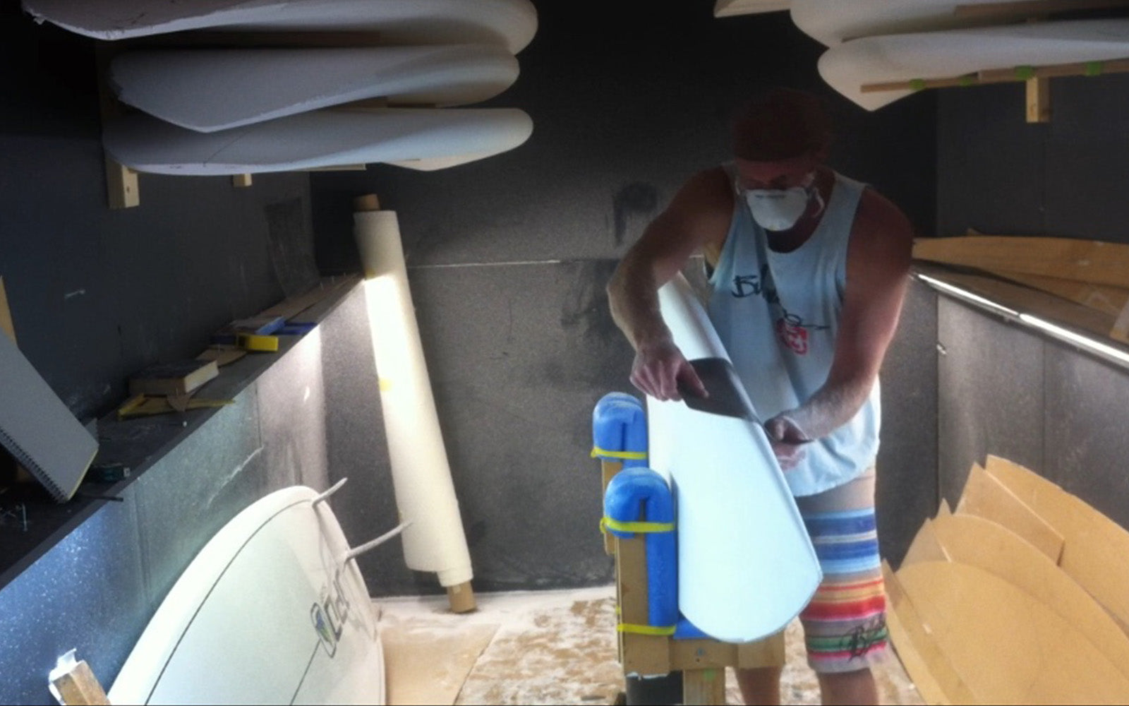 Mick Slattery from Surefire Boards Australia shaping a custom SUP stand up paddle board - made in Australia