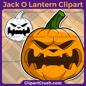 Carved Vector SVG PNG Jack O Lantern clipart pumpkin for teachers, school, kids, businesses or anyone that needs a cool Jack O Lantern for their projects. Black & white Jack O Lantern vector pumpkin line art included. Great for logos, icons, curriculum.