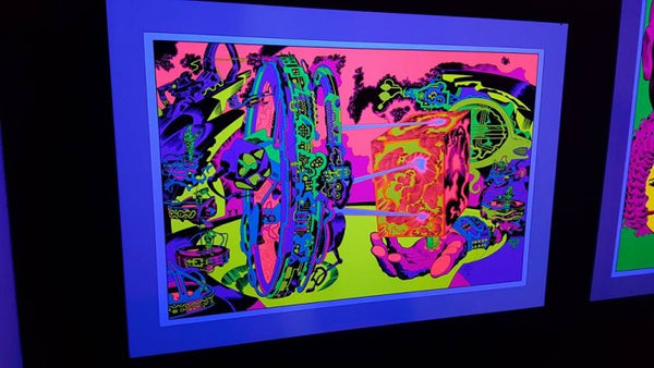 Jack Kirby / Barry Geller - Lord of Light Blacklight Print - Planetary Control Room 1 (Right)