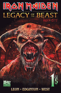 2019 San Diego Comic Con Exclusive Iron Maiden: Legacy of the Beast Night City #1 Variant cover