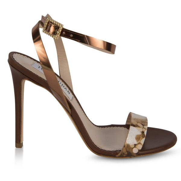 Brown Multicolored strappy sandals