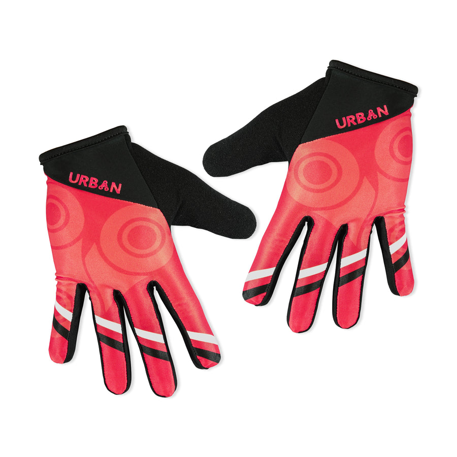 """MORE BEER"" MTB Gloves - 4-way stretch, phone swipe, snarky graphics - Urban Cycling Apparel"