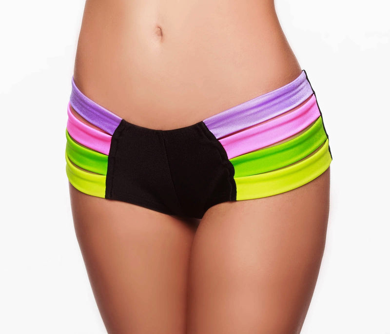 RAINBOW MINI SHORTS - HollywooDress