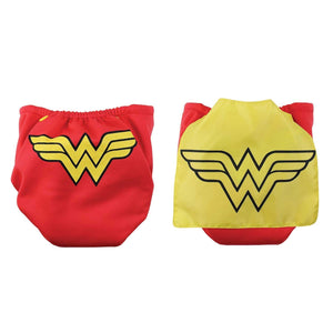 Superman Pink Snap-In-One Cloth Diaper with Cape