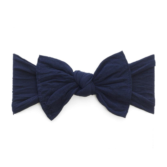 Baby Bling Hair Bow, Navy