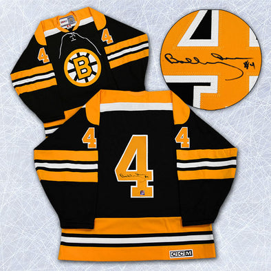 Bobby Orr Boston Bruins Autographed Black Retro CCM Hockey Jersey: GNR COA - Vanbase