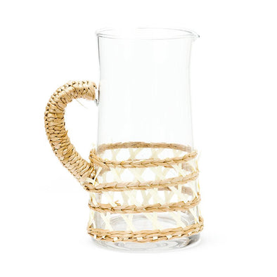 Island Wrapped Pitcher Large, White