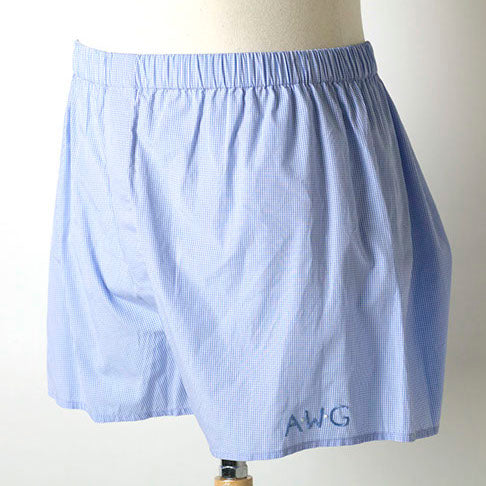 Ellis Hill men's cotton boxer shorts with monogram