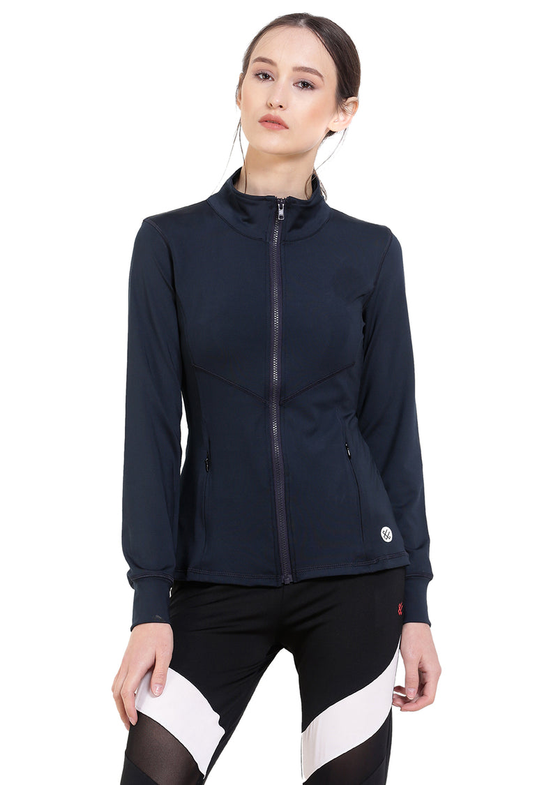 Red Cheri Groove City Jacket - Navy