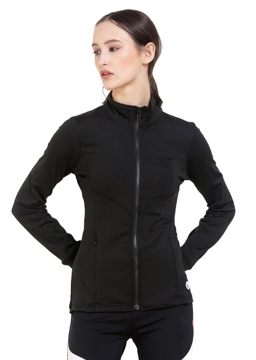 Red Cheri Groove City Jacket - Black