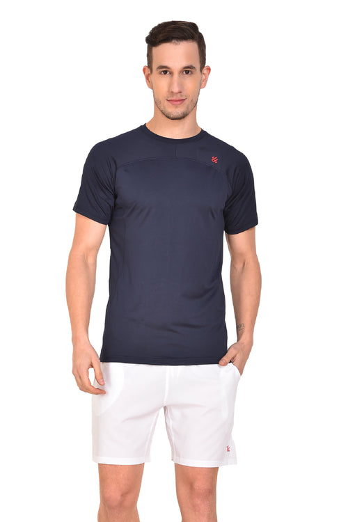 Red Cheri Mens Raw Tee - Blue