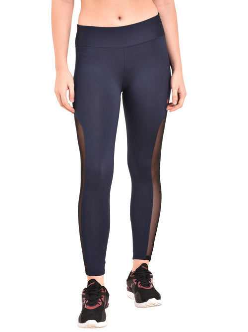 Zero Gravity Mesh Legging- Navy Blue