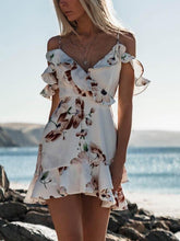 Load image into Gallery viewer, Sexy V-neck Sling Print Mini Dress