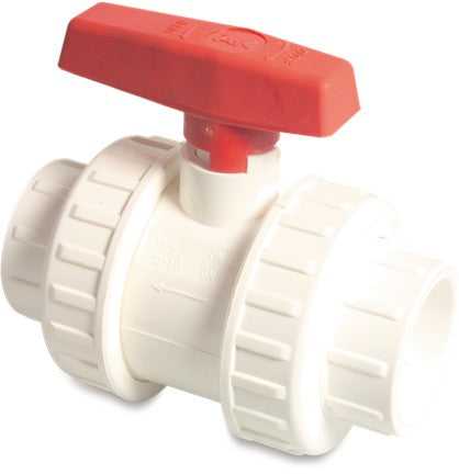 White Double Union Ball Valve - AK Type Imperial