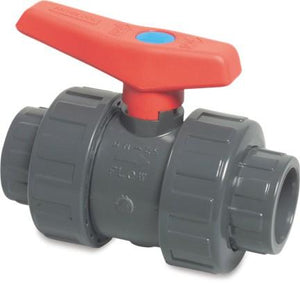 Mega Double Union Ball Valve Imperial PVC