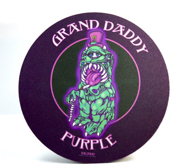 "8"" Grand Daddy Purple Rig Mat - Ideal Coaster for Dab Rig or Bong"