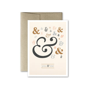 You & Me Light Card