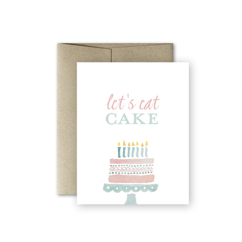 Let's Eat Cake Card