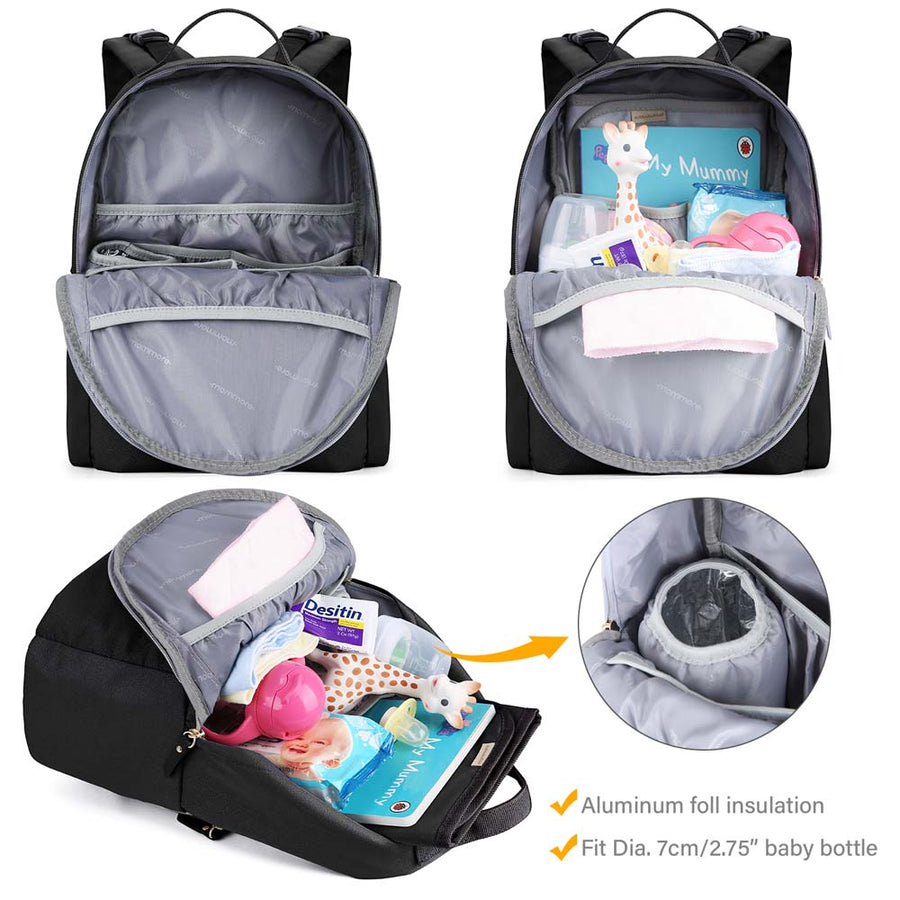 Diaper Bag Backpack with Small Toddler Backpack, 2 Piece Set - MOMMORE