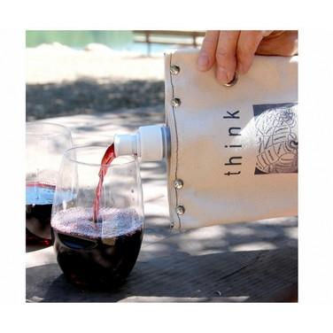 Half Full Half Empty Wine Tote