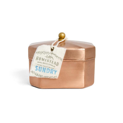 Octagon Copper Tin Candle - Sundry