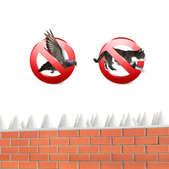 Anti-climbing Bird Spikes Security - Set of 10
