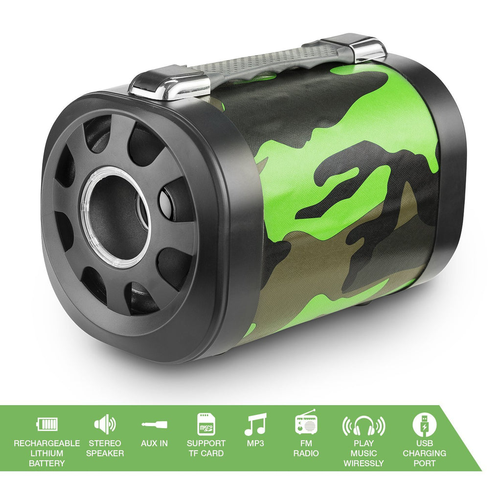 Abco Tech Wireless Bluetooth Speaker – Unique Camouflage Design, with Remote Control