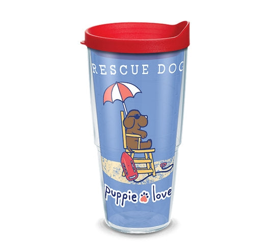 RESCUE PUP 24oz TUMBLER - Puppie Love